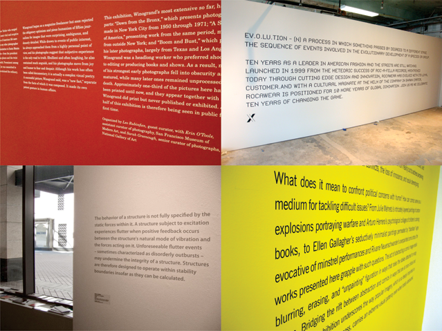 NYC Art Gallery Lettering   Wall Text   Vinyl Paragraphs   Stenciled ...